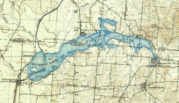 Buckeye Lake Map